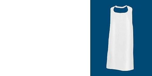 Förkläde engångs VITA kraftiga 120x70 cm 55 my Säljes så länge lagret räcker!
