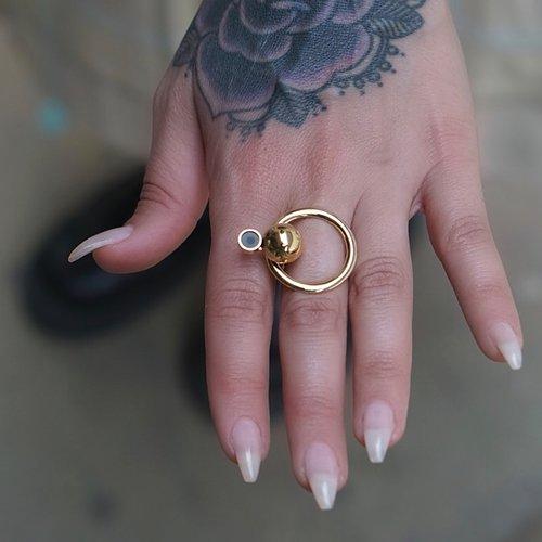 Satellite Golden R3 Ring