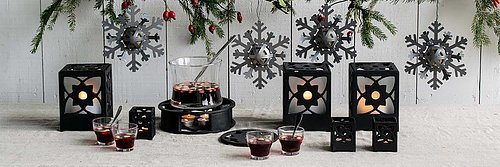 Create a stylish Christmas atmosphere with our cast iron range