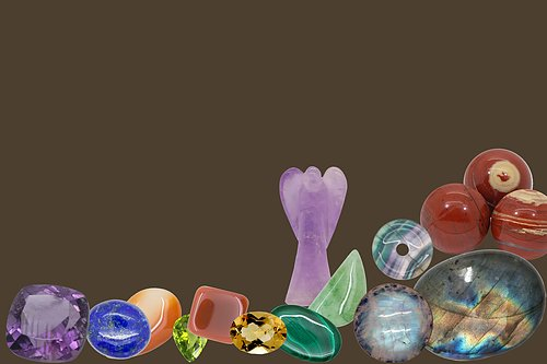 Shaped and polished stones Shapes and colors -Tumbled - Shaped - Cut stones