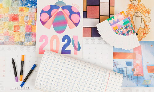 Art and design calendars Get a new outlook on 2021!