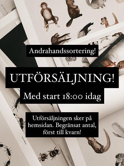 UTFÖRSÄLJNING Posters med små skönhetsfel