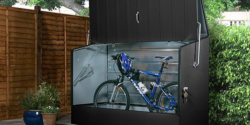 Förvaringsbox  Skydda trädgårdsprylar och cyklar under höst och vinter!