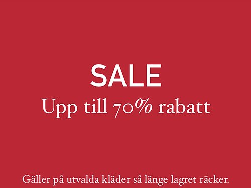 SALE Up to 70% discount on selected items.