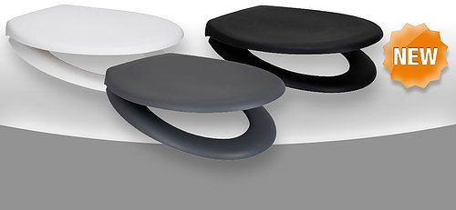 Rainbow Soft – MATT We are very pleased to introduce our new matt seats – in white, black and grey. The seats and lids have a wonderful soft feel matt finish.