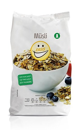 MÜSLI 600G EASIS Sockerfritt