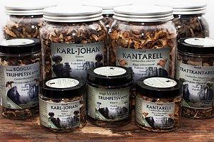 Svensk torkad svamp från Värmlands skogar