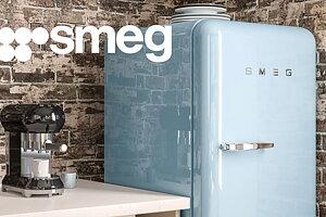 Brett sortiment av SMEG hushållsprodukter