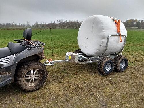 Smidig transport av rundbalar 2-års garanti & FRI frakt