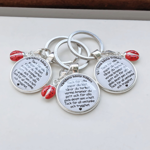 Keychains with own text From 80 SEK