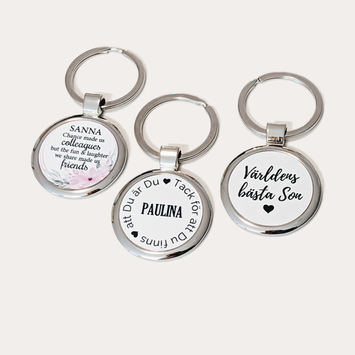 Personalize keychain Choose your style & text 110 SEK