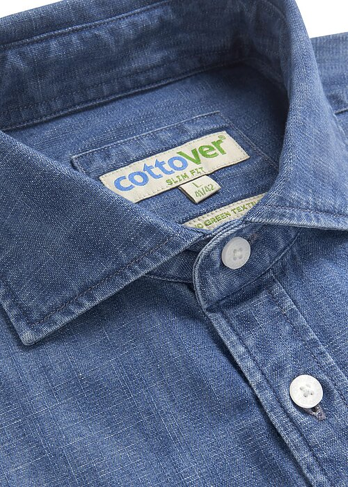 Jeansskjorta - Cottover GOTS & Fairtrade