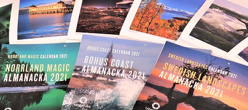 ALMANACS FOR 2021 NORRLAND MAGIC, BOHUS COAST AND SWEDISH LANDSCAPES