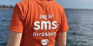 T-shirten som berättar att du är sms-livräddare.