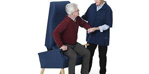EasyRiser to szwedzki fotel, który cię podnosi, bez żadnych silników i przewodów. Informacje o produkcie