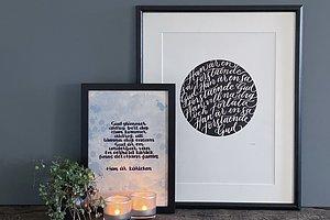 POSTERS med texter av  ROLAND UTBULT och lettering av ALEXANDRA LYCKELID