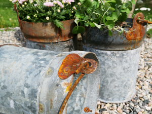 ZINKHINK  Perfekt operfekt planteringshink i återvunnet material