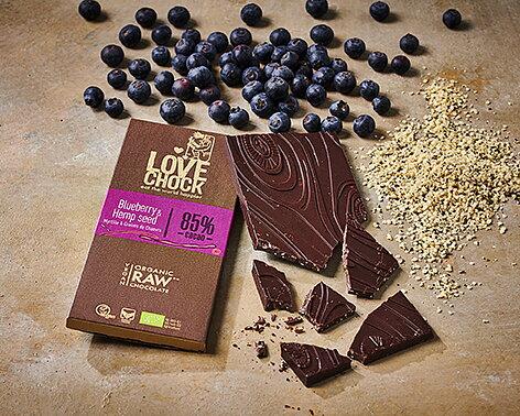 Lovechock Raw, ekologisk, vegan Direkt handel, utan palmolja, sötad med dadlar och kokos