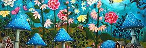 Josefina Wendel Carlsson - ART Original - signerade grafikblad -  kuddfodral