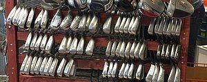 Begagnade golfklubbor  och utrustning