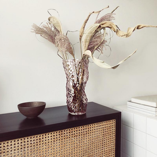 Hein Studio - Ostrea Rock Glass Vase PALE ROSE