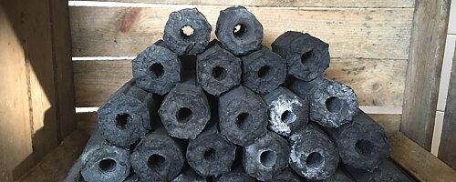 Greek fire briquettes