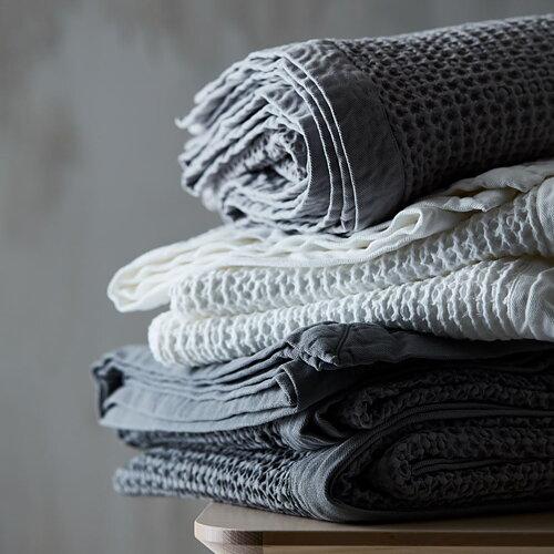 WAFFLE - Stentvättad bomull Överkast, plädar och kuddar