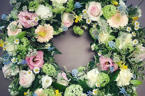 Begravning  för blomstrande minnen